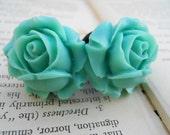 Large Bridal Plugs, Prom Plugs, Flower Plugs, Aqua Roses