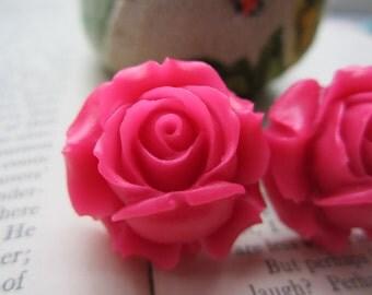 Large Bridal Plugs, Prom Plugs, Flower Plugs, Pink Roses