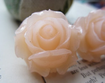 Large Bridal Plugs, Prom Plugs, Flower Plugs,Clear Pinkish Roses