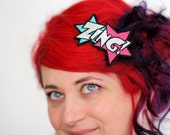 ZING Hair Clip, Comic Book Barrette, Various Colours- Black FRiday Cyber Monday