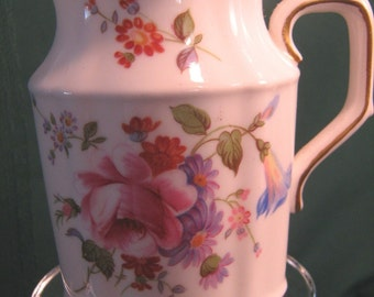 Vintage pitcher, jug, Royal Crown Derby, Derby Posies, Downton Abbey style addition to your tea table
