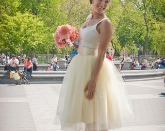 Ivory tulle skirt for women. Adult tutu Ballerina skirt Bride Classic retro wedding. Tutus Chic