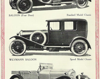 """Vintage Reprint Folder """"The Three Litre Bentley"""" from 1928"""