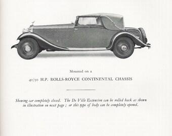 """Vintage Reprint Booklet """"Coachbuilding 1933-34"""" Barker & Co, Ltd"""