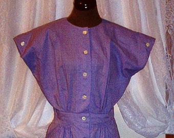 Vintage Reproduction Dress from Forties Pattern, Bust 34