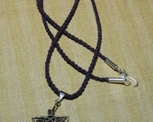 Irish Linen Sterling Silver Celtic Knot Necklace