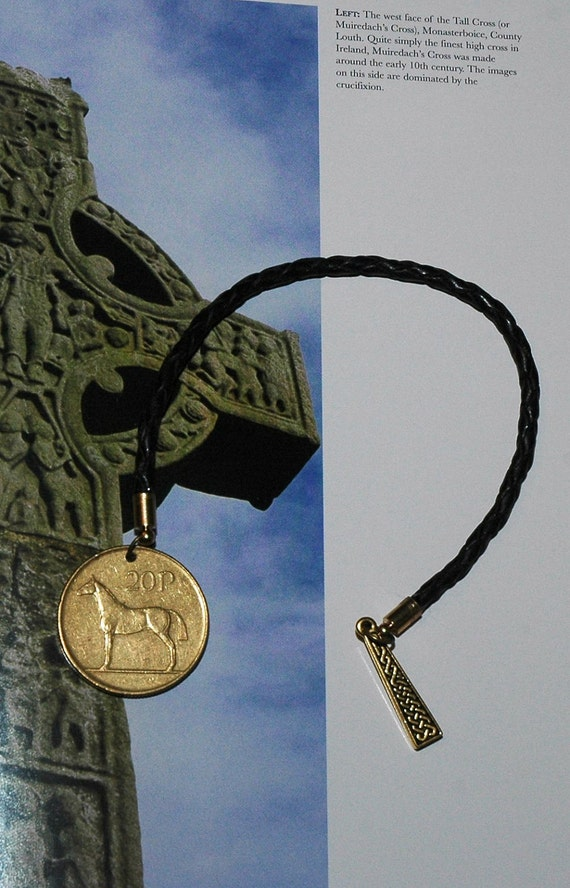 Reserved for Carmel - Set of two Braided Greek Leather Bookmark with Treasures