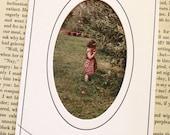 letterpress oval cut picture matte, 4x6 ON SALE!