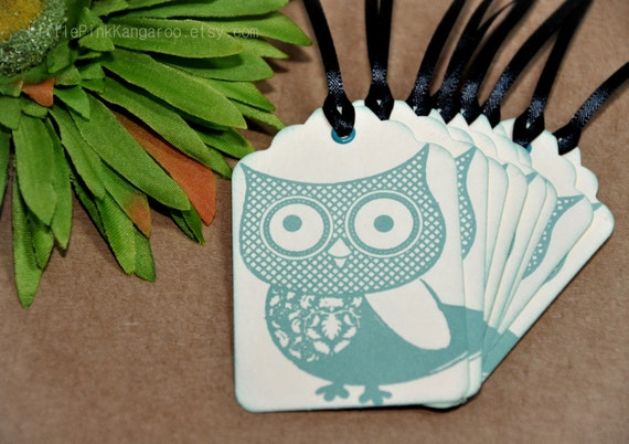 Owl Hand stamped Gift tags hand tags Packaging Tags  Owl Love you Forever Owl
