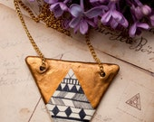 Geometric Golden Tribal Pendant Necklace - FREE SHIPPING
