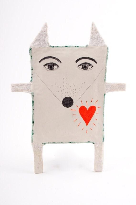 Air Dry Clay Cat, Mixed Media Animal, Hanging Ceramic Sculpture, Porcelain Art Object, Decoration, Skulptur, Kunst, Cat Lover Gift, Katze