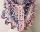Multicolor Handmade Crochet  Scarf..