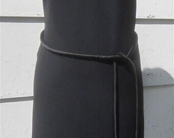 Vintage 1960's Black Sheath Cocktail Dress - Mod Rayon Crepe Wiggle Dress by Fritzi Of CA