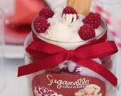 White Chocolate Raspberry Torte- 18oz. Gourmet Jar Candle