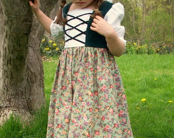 Maria's Austrian Floral Dress Sizes  2-12