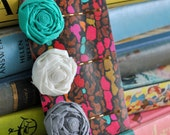 Flower Hair Pins - Set of Three - Choose your colors - Rosette Bobby Pins