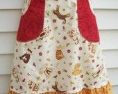 Cat Skirt / Country Ruffles Cat Skirt with Dotted Pockets - Waist 29