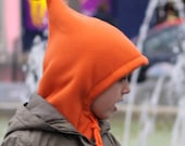 Cozy Fleece Hoodie Hat . Cagoule douce en polaire - BERNADINA col. 21 orange