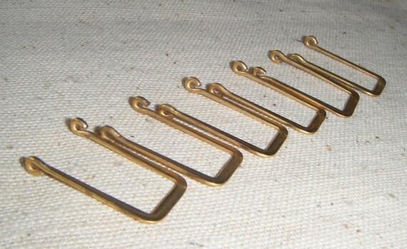 "Solid Brass ""Swing"" Rectangular Drop/Connector (10) Retro, Deco"