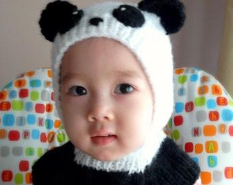 3T-4T Panda Bear Coverall Hat #163
