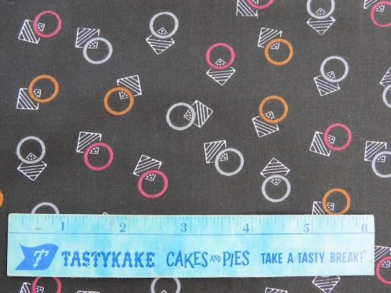 "Deco Print Vintage Fabric Yardage - Black Cotton - 5 3/10 yds x 44"" wide"