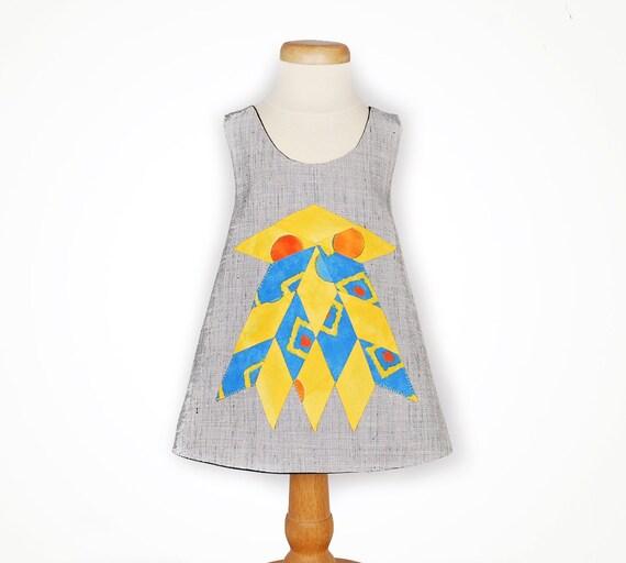 Baby dress with bird