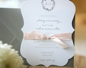 Custom Wedding Invitation Suite - Plantation Die Cut Invitations, Monogram Invitations, Rustic Wedding Invites