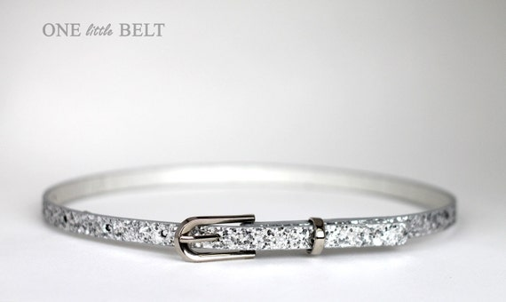 LAST IN STOCK Toddler Girl's Belt- Silver Glitter 12-24 months