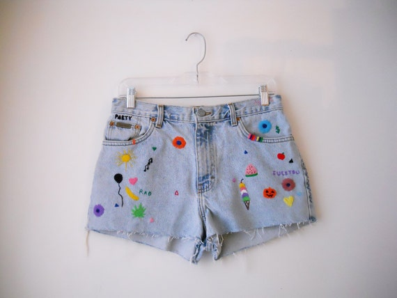 Dear Diary Embroidered Shorts