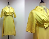Vintage 1960s Dress / 60s Cocktail Dress / Vintage Gold Dress / Mad Men / XS