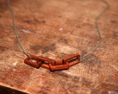 Raw Brass And Wooden Chain Necklace