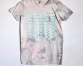 Gray and Pink Stone Triangle Organic Cotton T-Shirt Series