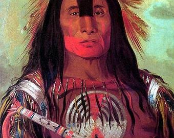 Art Rendering American Indian vintage Image 8 1/2 x 11 Image