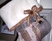 Holiday GIFT GIVING Christmas Stocking Fringe Bow