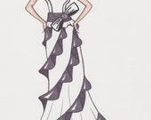 custom wedding gown sketch-sample