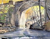 Keystone Arch in Autumn - Open edition print of an original watercolor (fits 11x14 frame)