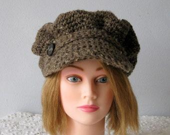 "Hipster Cap Urban Newsboy Hat Womens Hippy Hat Rustic Barley Teen Visor Cap ""Ready to Ship"""