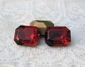 LOW STOCK 10x8 Siam Red Octagon Swarovski Glass Rhinestones
