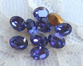 Swarovski Rhinestone 8x6 mm Machine Cut Purple Tanzanite Oval