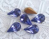 10x6 Swarovski Pear Rhinestone Purple Tanzanite Glass Jewels