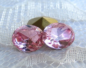 10x8 Swarovski Rhinestone Light Rose Pink Glass Oval Pointed Back Quantity 4 rhinestones