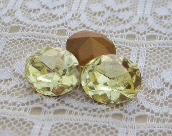 12x10 Swarovski Jonquil Light Yellow Oval Rhinestone
