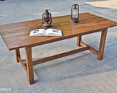 Reclaimed Wood Dining Table - Carolina Harvest Farm Table - Custom Furniture - Solid Hardwoods - Customized - Made in the USA