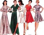 70s Vintage Sewing Pattern Vogue 1082 Classic  Dresses Size 12 Bust 34  UNCUT FF