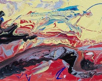 Dragon abstract painting hand made original