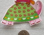 Mom Baby Turtles Pink No Sew Iron On Appliques