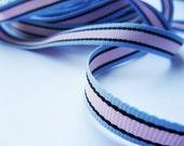 "5 Yards- Multi Stripe Grosgrain Ribbon- 3/8"""