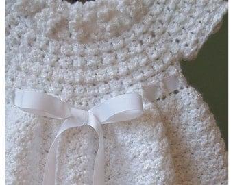 White Christening Dress, Ready to Ship