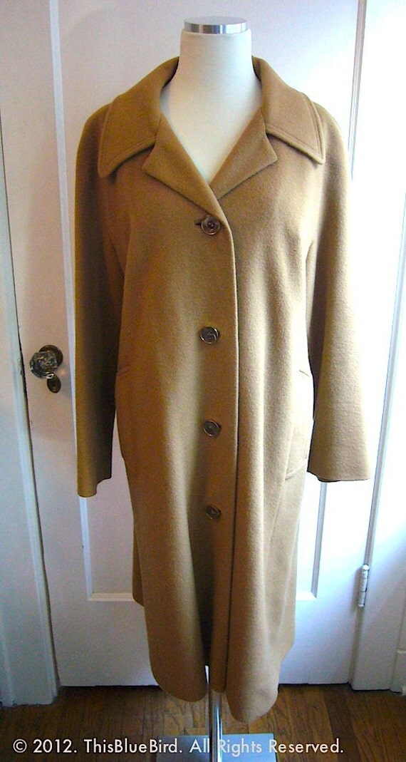 Cashmere Coat Vintage Camel SALE / Downton Abbey to Mad Men / Overcoat Trenchcoat Trench Winter Autumn