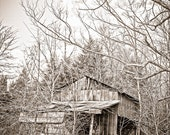 Simple life Photography rustic moonshine backwoods shack shanty liquor still ghost town rusty barn - The shine house - fine art photograph